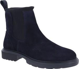 Buty zimowe Hugo Boss w stylu casual ze skóry