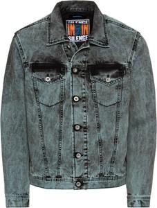 Niebieska kurtka Diesel z jeansu w street stylu