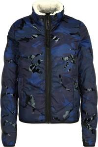 Niebieska kurtka G-Star Raw krótka w stylu casual