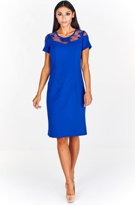 Sukienka Fokus z tkaniny z krótkim rękawem