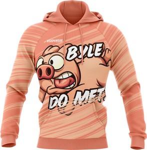Pomarańczowa bluza Vision Wear Sport z nadrukiem z bawełny