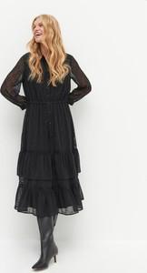 Czarna sukienka Reserved z tkaniny