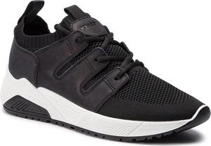 Granatowe buty sportowe Igi & Co sznurowane w sportowym stylu