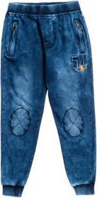 Granatowe jeansy dziecięce denley z bawełny