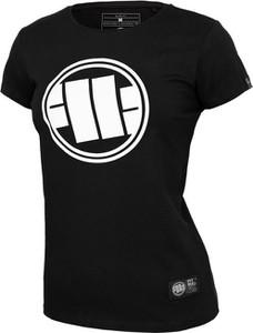 T-shirt Pit Bull z bawełny z okrągłym dekoltem z krótkim rękawem