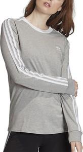 Bluzka Adidas z długim rękawem w sportowym stylu z żakardu