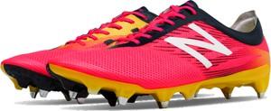 Różowe buty sportowe New Balance sznurowane