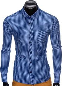 Koszula Ombre Clothing z bawełny z długim rękawem