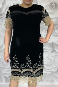 Sukienka Dorota midi z weluru