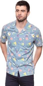 Niebieska koszula Wrangler w geometryczne wzory