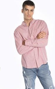 Różowa koszula Gate z bawełny z kołnierzykiem button down