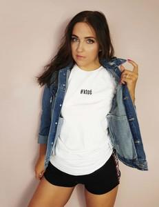 Bluzka Time For Fashion w młodzieżowym stylu z bawełny