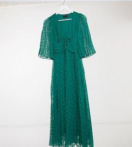 Zielona sukienka Asos z tkaniny midi