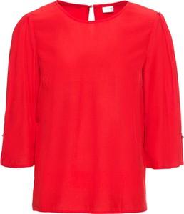 Czerwona bluzka bonprix BODYFLIRT z okrągłym dekoltem w stylu casual