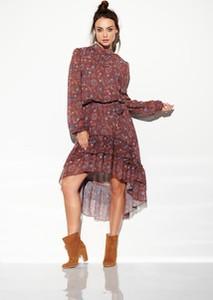 Sukienka Lemoniade asymetryczna w stylu casual z jedwabiu