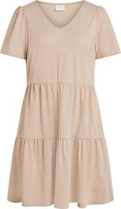 Sukienka Vila z krótkim rękawem w stylu casual mini