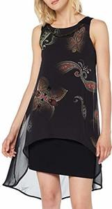 Czarna sukienka amazon.de z okrągłym dekoltem mini