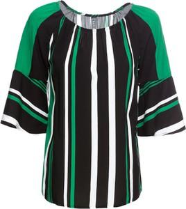 Zielona bluzka bonprix RAINBOW z krótkim rękawem