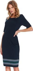 Sukienka Top Secret w stylu casual z długim rękawem z okrągłym dekoltem