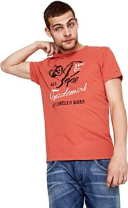 Pomarańczowy t-shirt Pepe Jeans z krótkim rękawem