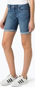 Niebieskie szorty Pepe Jeans z bawełny