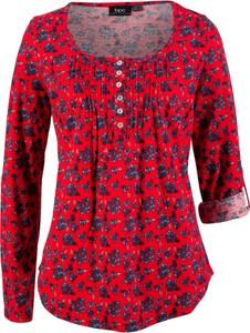 Czerwony t-shirt bonprix bpc bonprix collection w stylu casual
