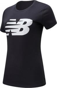 Bluzka New Balance z bawełny z krótkim rękawem z okrągłym dekoltem