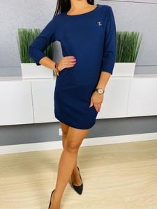 Sukienka ModnaKiecka.pl mini w stylu casual z długim rękawem