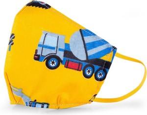Dziecięca Maseczka ochronna PREMIUM bawełniana 3-warstwowa - wielorazowa - YellowCars QART - 1 szt