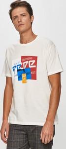 T-shirt Pepe Jeans w młodzieżowym stylu z bawełny