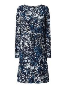 Granatowa sukienka Tom Tailor z długim rękawem z okrągłym dekoltem w stylu casual