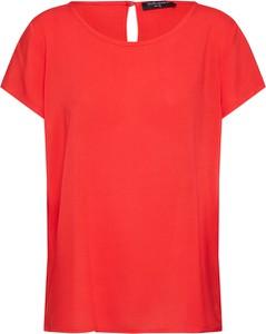 Czerwona bluzka SUBLEVEL z krótkim rękawem w stylu casual