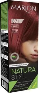 Marion, Natura Styl, farba do włosów, nr 671 rubinowa czerwień