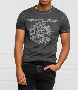 T-shirt Replay z krótkim rękawem z nadrukiem z bawełny