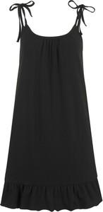 Sukienka bonprix bpc bonprix collection mini z okrągłym dekoltem na ramiączkach