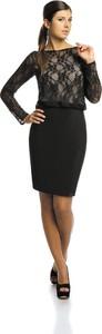 Sukienka Fokus w stylu glamour midi z długim rękawem