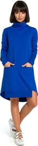 Sukienka Merg z golfem w stylu casual z długim rękawem