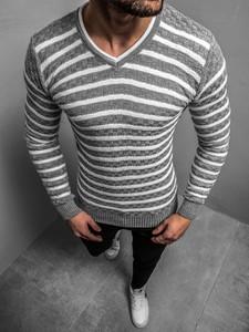 Sweter ozonee.pl w młodzieżowym stylu z dzianiny