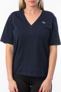 T-shirt Lacoste z dekoltem w kształcie litery v z krótkim rękawem w stylu casual