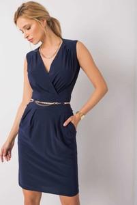 Sukienka Sheandher.pl mini bez rękawów z dekoltem w kształcie litery v