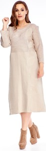 Sukienka N/A z długim rękawem midi