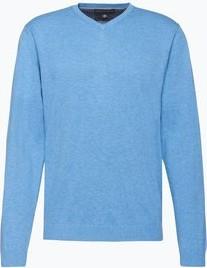 Niebieski sweter Finshley & Harding z kaszmiru
