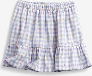 Niebieska spódniczka dziewczęca Gap z bawełny w krateczkę