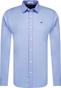 Niebieska koszula Tommy Jeans w stylu casual