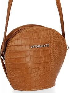 Brązowa torebka VITTORIA GOTTI na ramię średnia