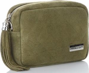 Zielona torebka VITTORIA GOTTI w stylu casual mała ze skóry