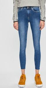 Niebieskie jeansy Only z bawełny w młodzieżowym stylu