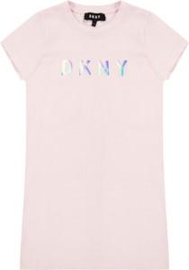 Sukienka DKNY mini z krótkim rękawem