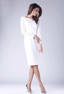 Sukienka Nommo z długim rękawem z okrągłym dekoltem