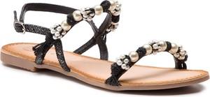Czarne sandały GIOSEPPO w stylu casual